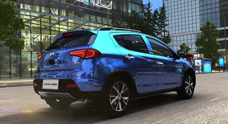 مشخصات فنی خودرو لیفان X50